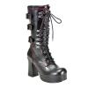 GOTHIKA-101 Black Faux Leather
